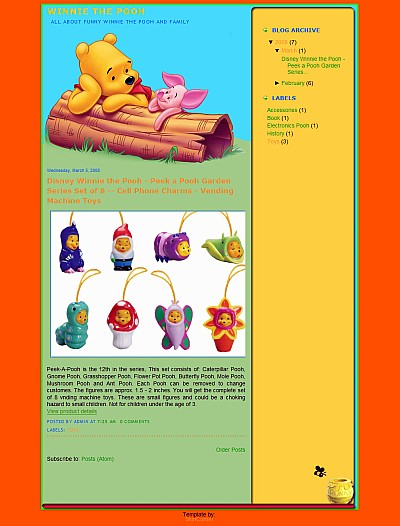 Pooh Blogger Template