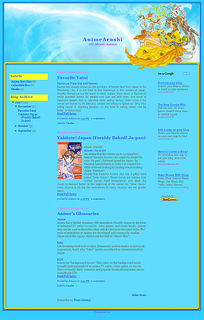 Belldandy-blogger-template