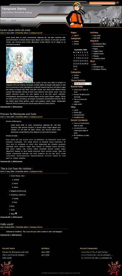 naruto-wordpress-theme