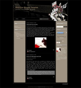 Rock-Star-Blogger-Template